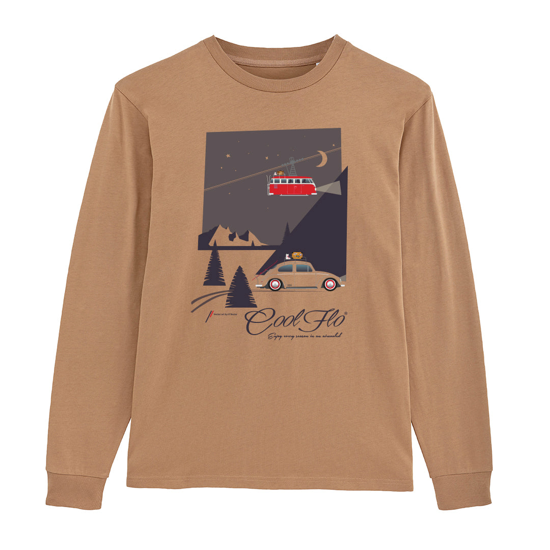 Winter Bug Camel long-sleeve t-shirt main pic