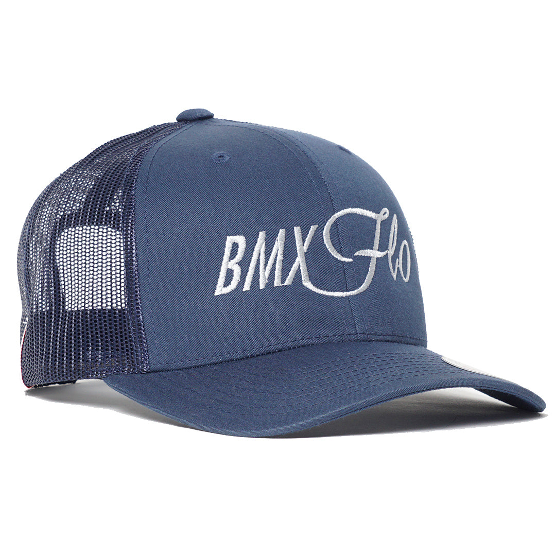 BMX Flo Navy Trucker Cap - Cool Flo