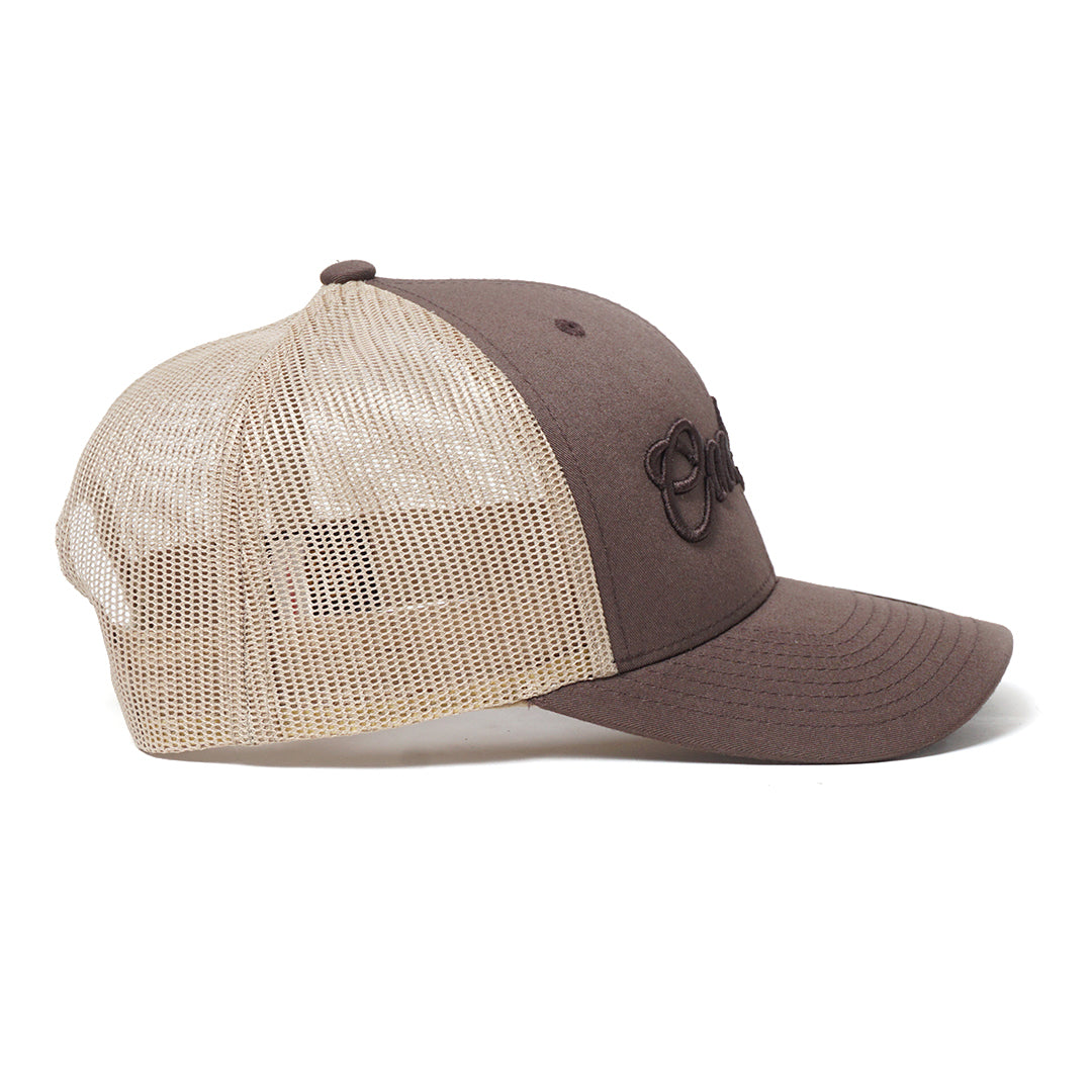 Brown Script Cap - Cool Flo