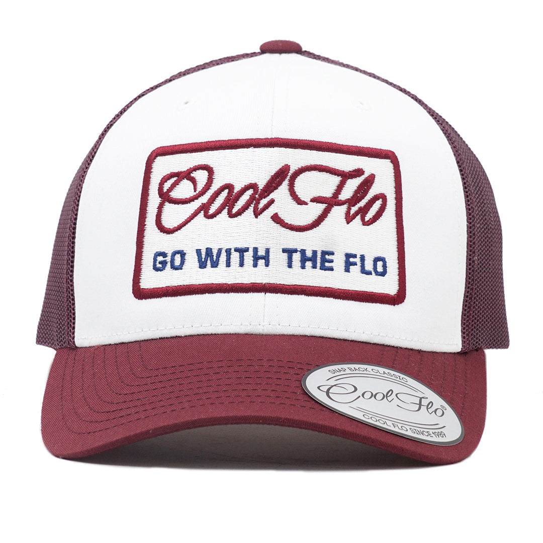 Go With The Flo Contrast Trucker Cap - Cool Flo