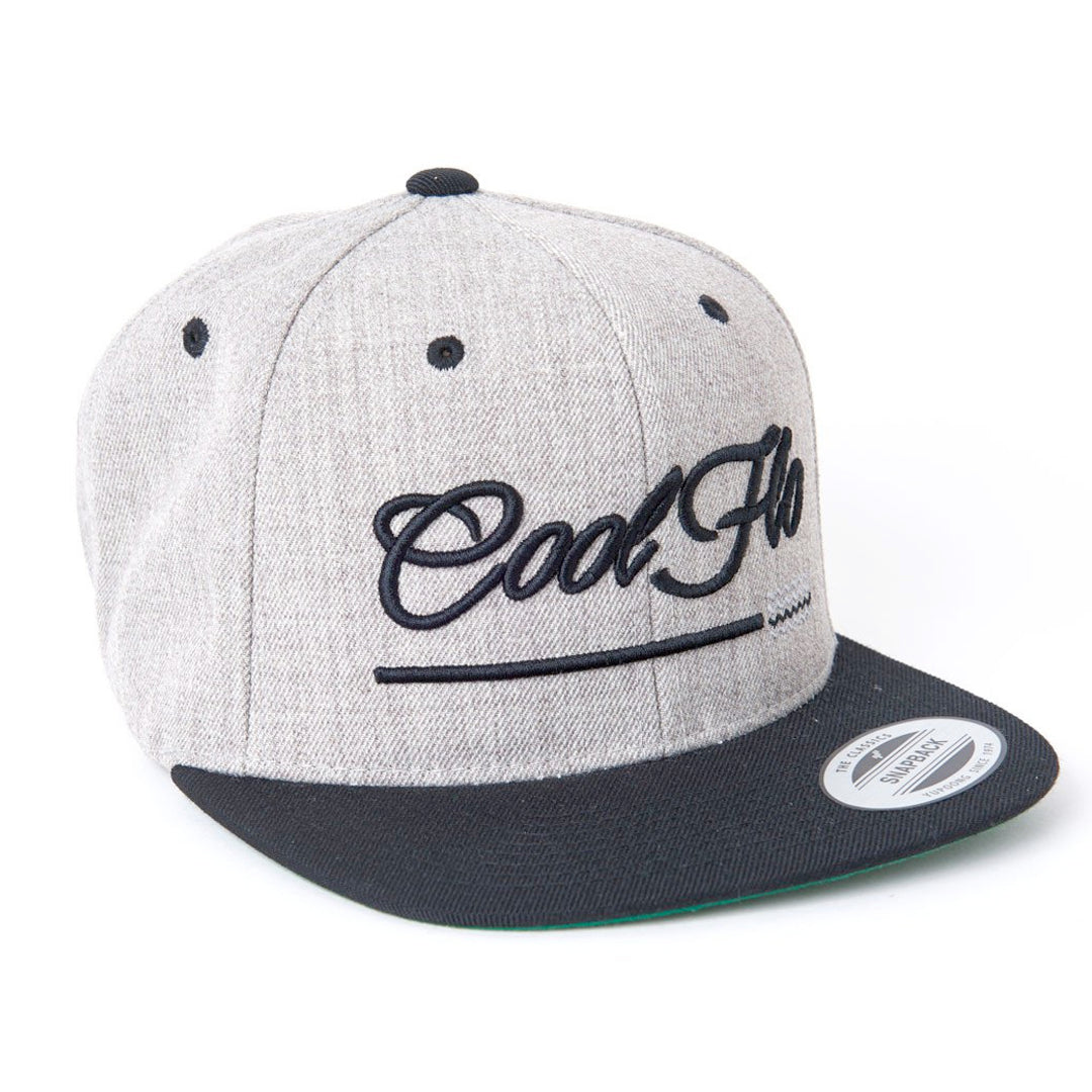 Treading Waves Black Two-tone Snapback Cap - Cool Flo