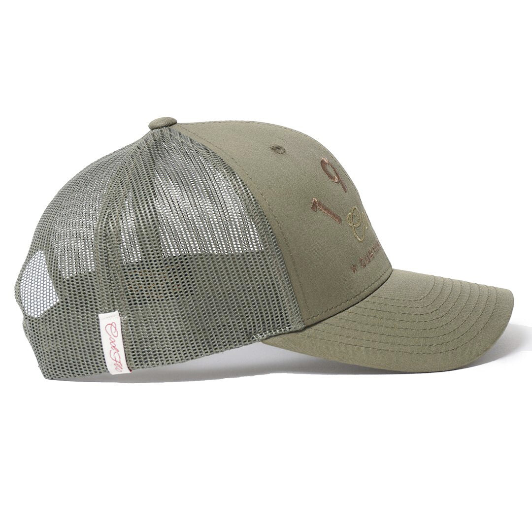 CUSTOM EDITION Reg. Green Trucker Cap - Cool Flo