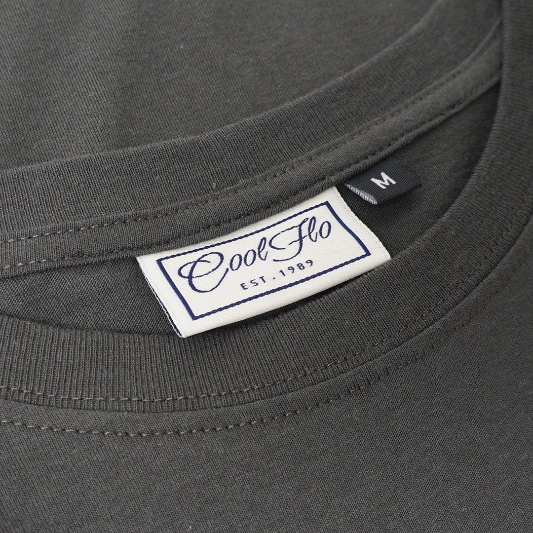 Old Skool Rules Charcoal T-shirt - Cool Flo
