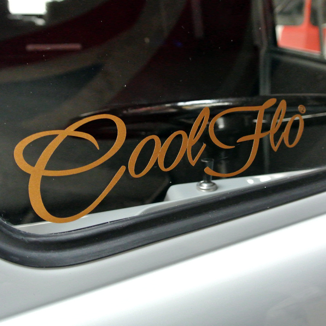 "Small 8"" Script Decal - Metal Flake - Cool Flo"