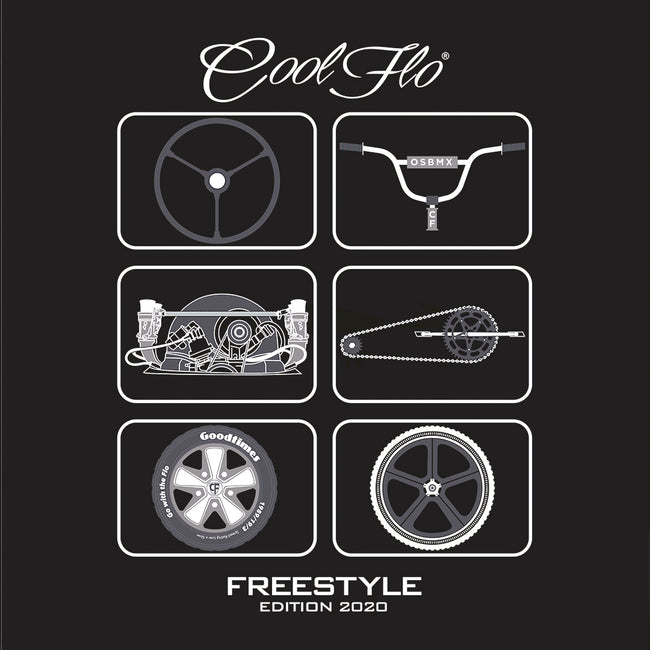 Freestyle Black T-shirt - Cool Flo