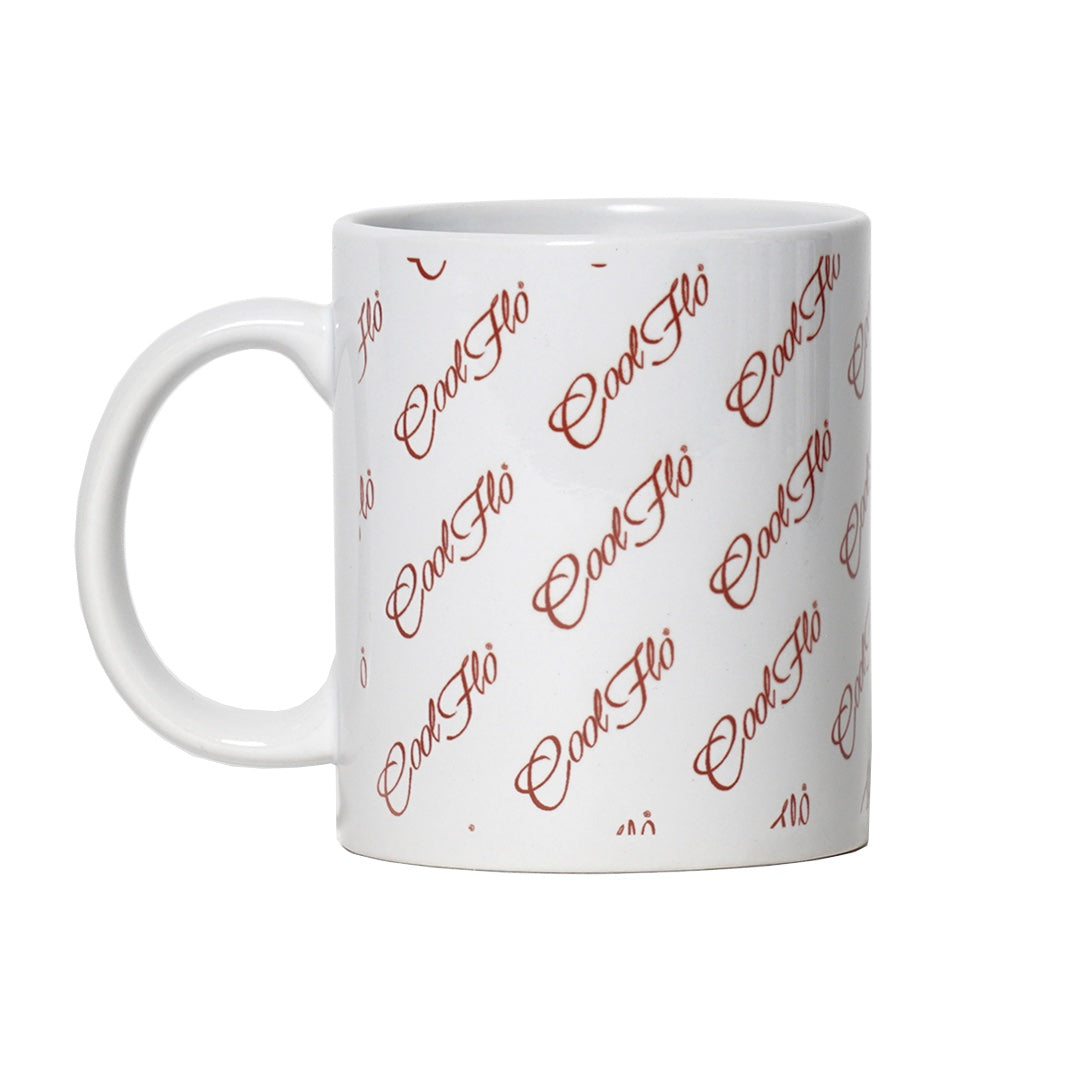 Cool Flo Multi Script Mug Side View 1