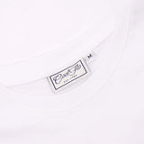 Winter Bug white t-shirt neck label