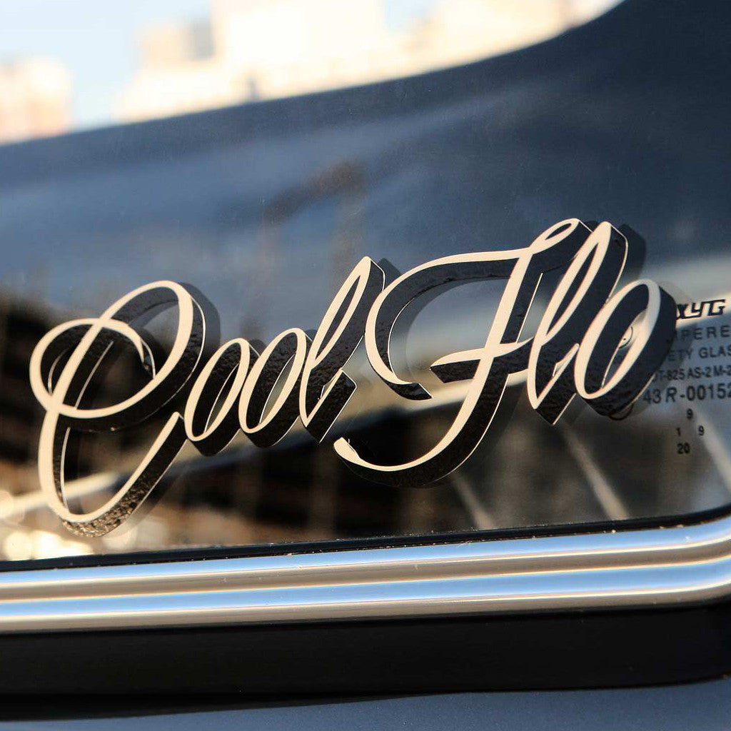 "Large 18"" Script Decal - Original - Cool Flo"