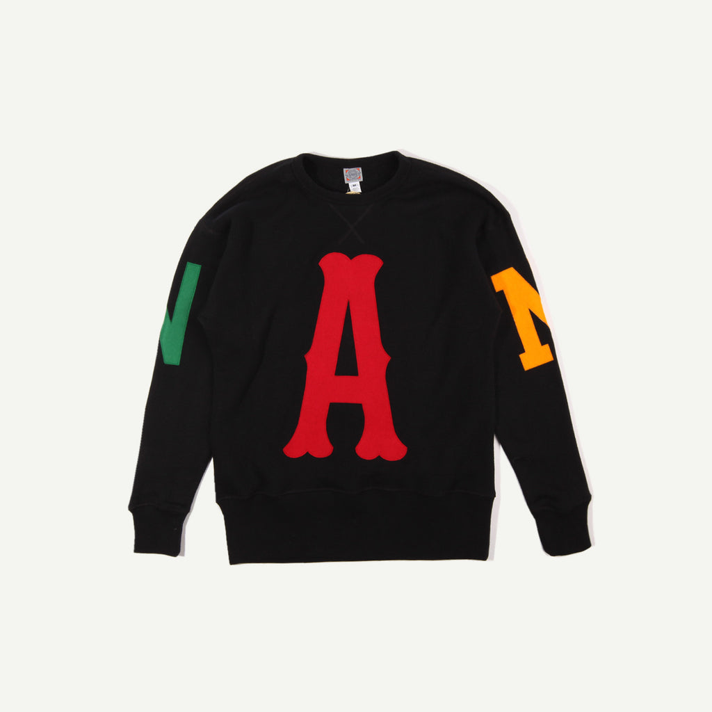 a number of names* Anon x Ebbets Crewneck Sweatshirt - Black