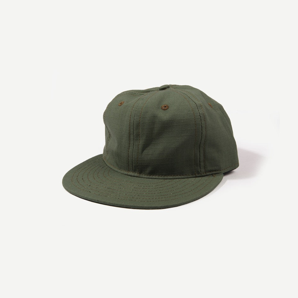 Ebbets Field Flannels Ebbets Ripstop Cotton Strapback Cap - Olive Drab