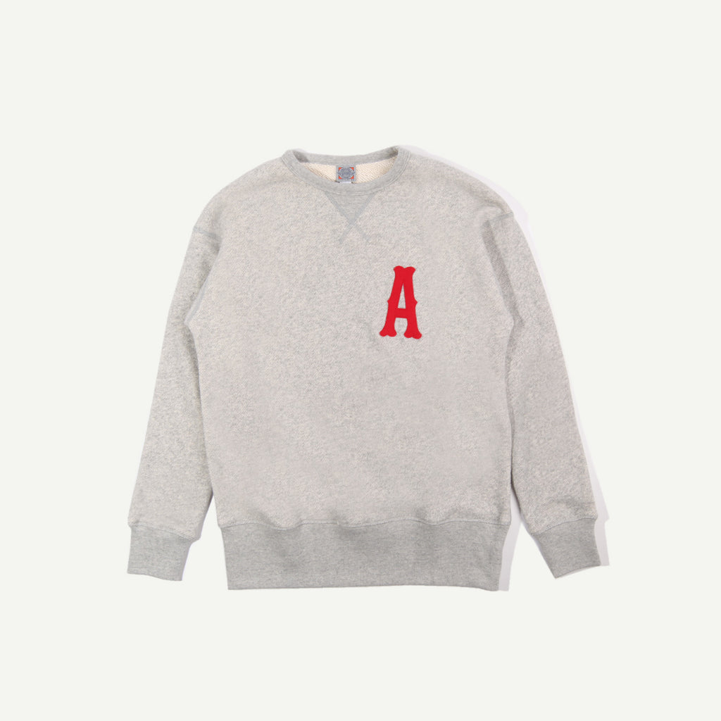 a number of names* Anon x Ebbets Crewneck - Heather Grey