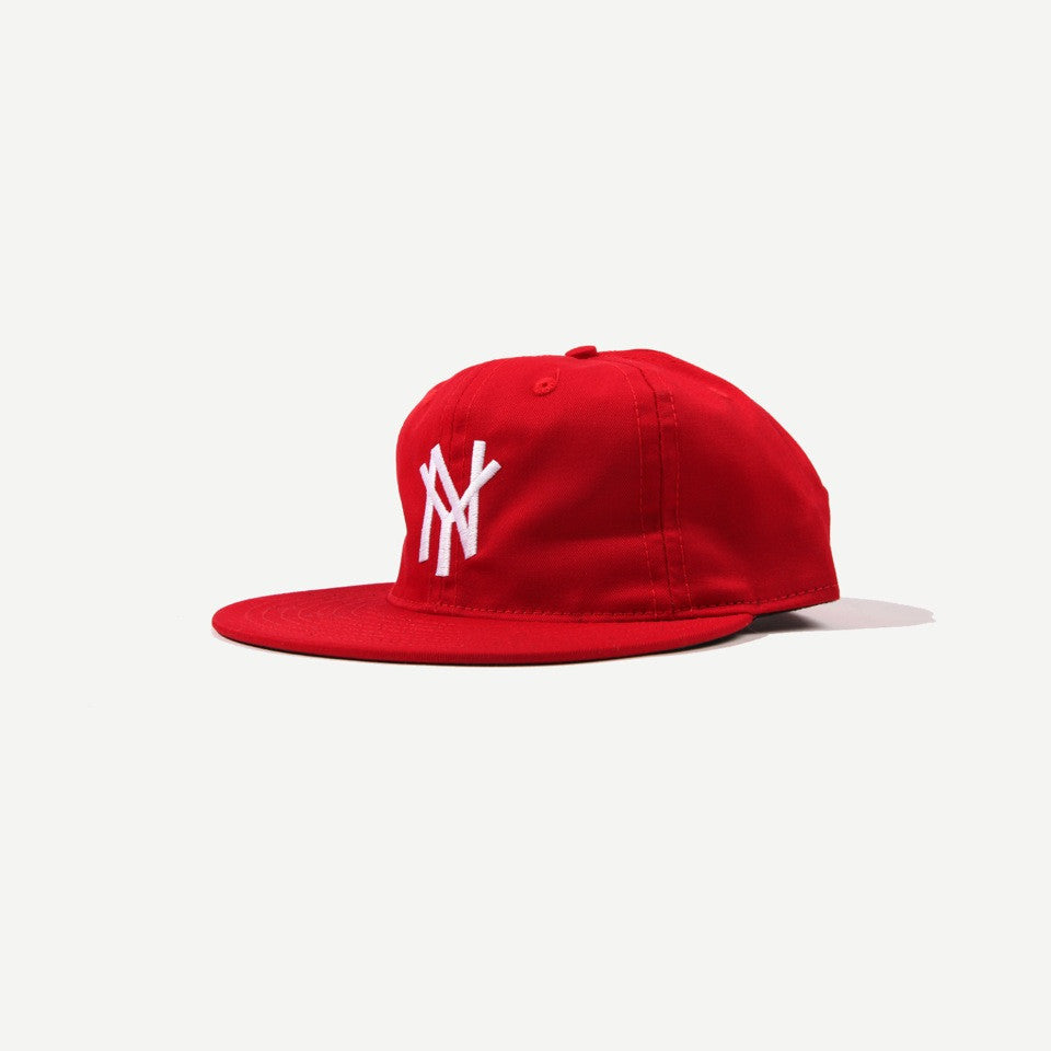 Ebbets Field Flannels Ebbets New York Mammoths Strapback Cap - Red