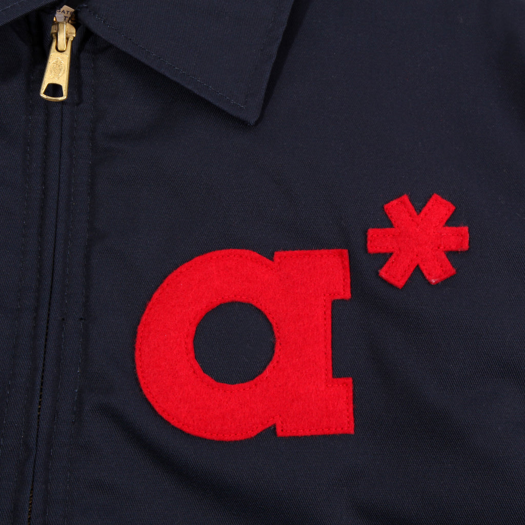 a number of names* Anon x Ebbets 'A Number Of Names' Jacket - Navy