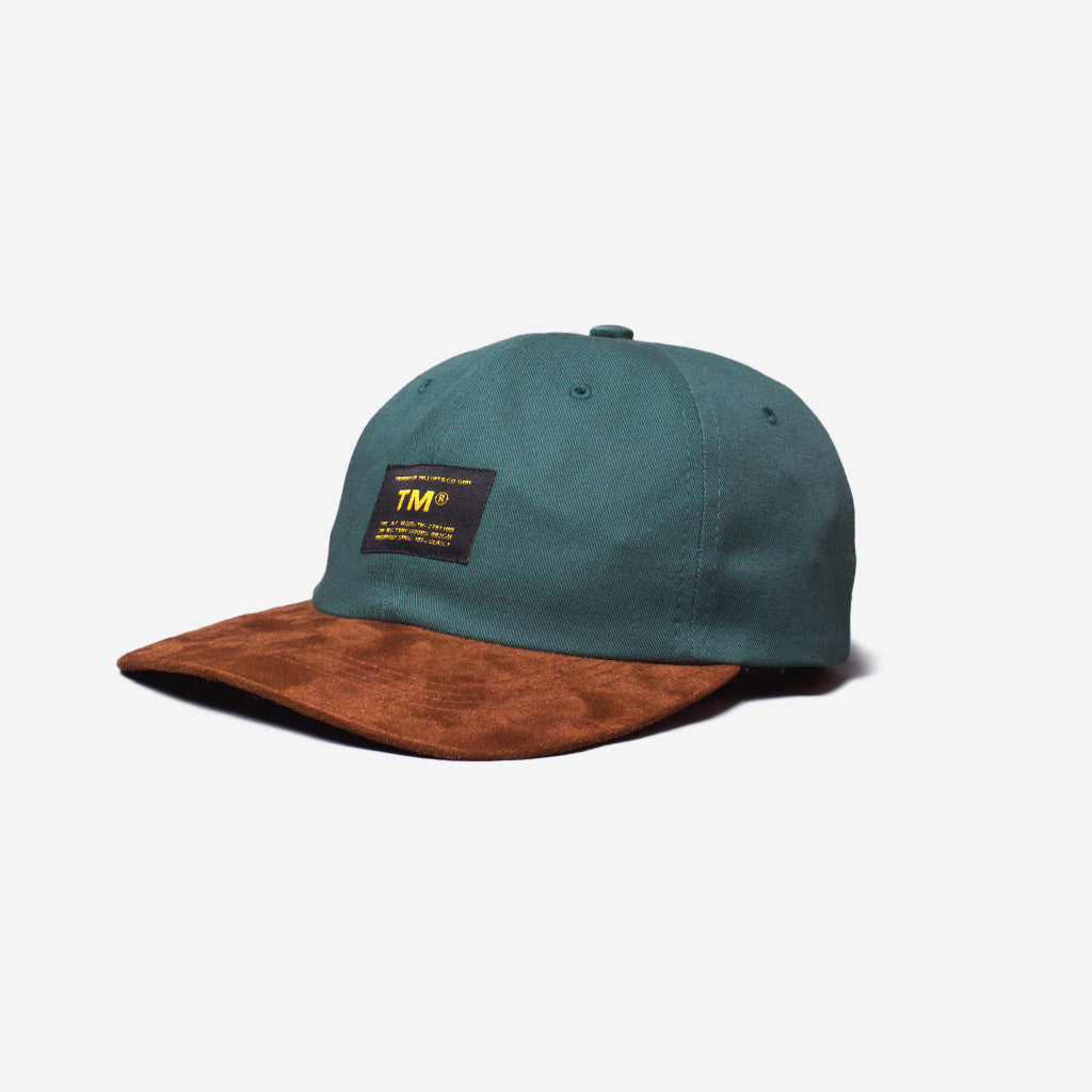 tm® sporting goods tm® two-tone militia cap - jade green/tan suede