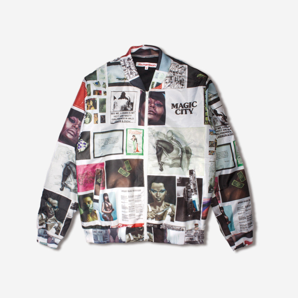 richardson richardson a8 bomber jacket - multi