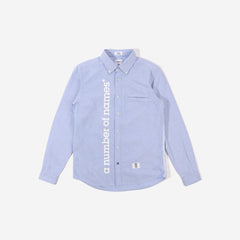 anon* x Bedwin & The Heartbreakers Long Sleeve Shirt - blue