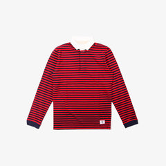 Bedwin & the heartbreakers long sleeve anton rugby shirt - red