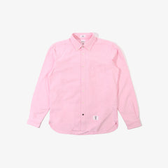 bedwin & the heartbreakers brian patchwork shirt - pink