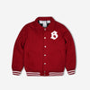 Billionaire Boys Club CAR CLUB WOOL JACKET - BURGUNDY