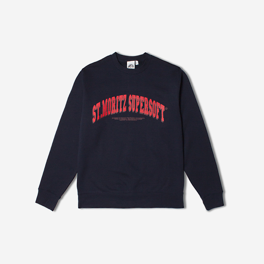 St Moritz Supersoft College Sweat - Navy