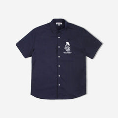Euro Trash Short Sleeve Shirt - Navy