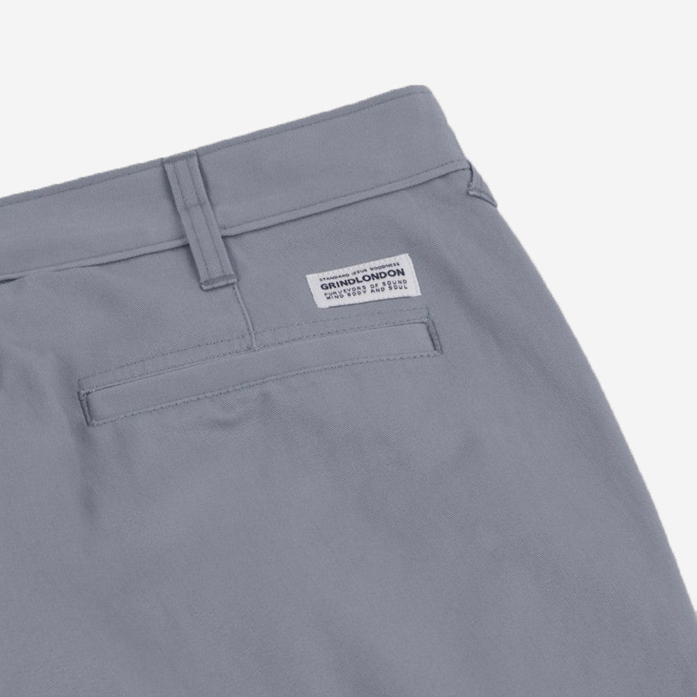 grind london Brushed Cotton Chino - Grey