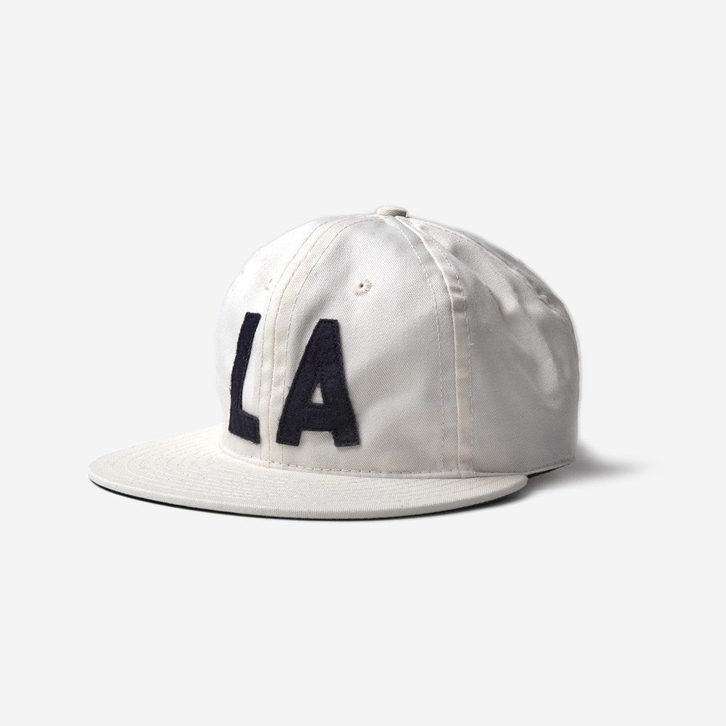 Ebbets Field Flannels Ebbets Los Angeles Angels 1956 Strapback Cap - White