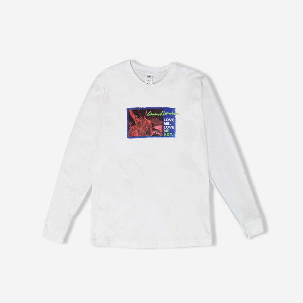 grind london Love Me Hot Long Sleeve T-Shirt - White