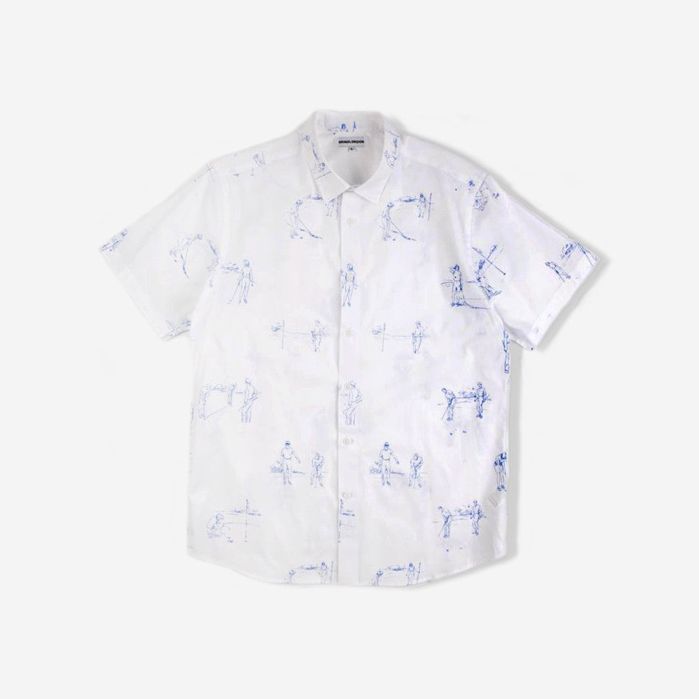 grind london Masters Short Sleeve Shirt - White