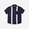 grind london Panel Short Sleeve Shirt - Navy/Light Blue