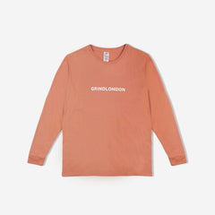Grind London Long Sleeve T-Shirt - Peach