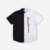 grind london Split Short Sleeve Shirt - Black/White