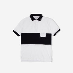 Euro Trash Short Sleeve Polo Shirt - White/Black