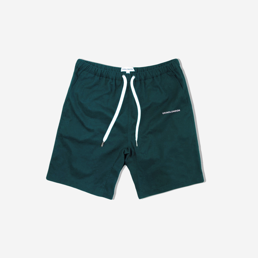 grind london Brushed Cotton Shorts - Turquoise