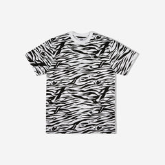 ZEBRA CAMO ALL-OVER PRINT T-SHIRT - WHITE