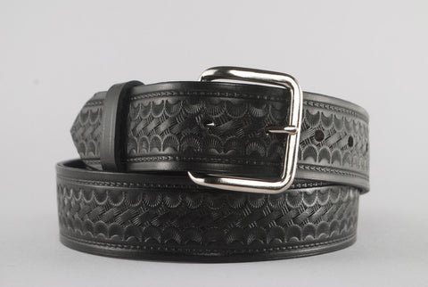 Black Basketweave Belt--#DB8-B