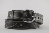Black Gunfighter Figure 8/Diamond Stitch Belt