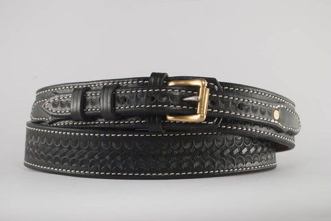 "1.75"" Heavy Single Ply Leather Belt-BW--#DB9-B"