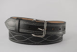Black Gunfighter Figure 8 Stitch Belt
