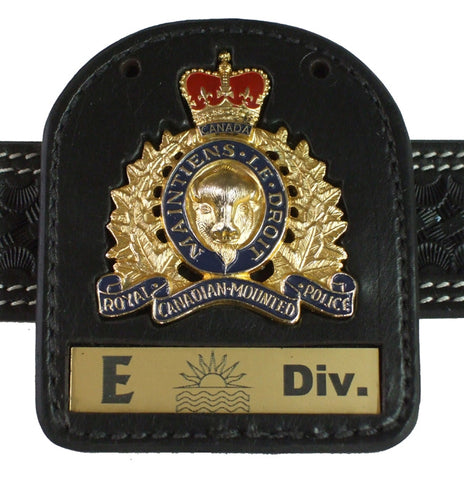 RCMP Crest Badge Carrier  # 2--INCLUDES  Badge