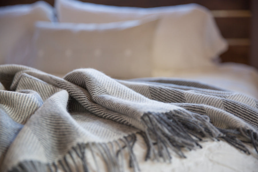 Maloca Medium Weight 100% Alpaca Wool Herringbone Throw