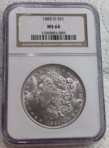1885 O NGC MS64 Bright Morgan Dollar