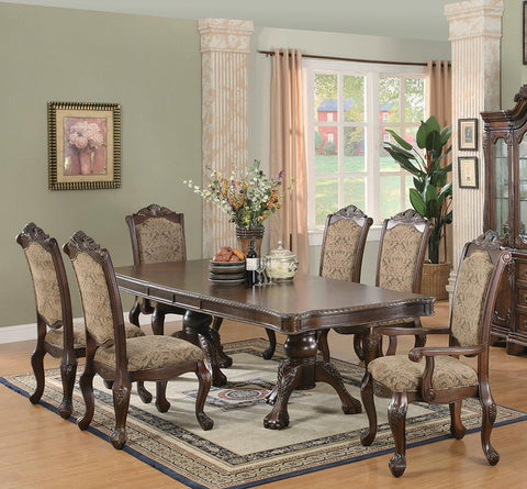 Andrea Traditional Brown and Cherry Side Chair