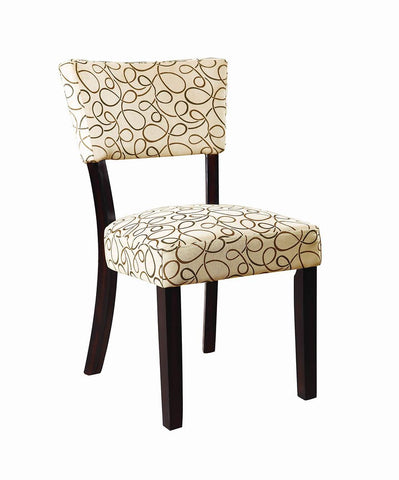 Libby Transitional Cappuccino Side Chair