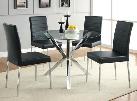 Vance Contemporary Chrome Dinette Table