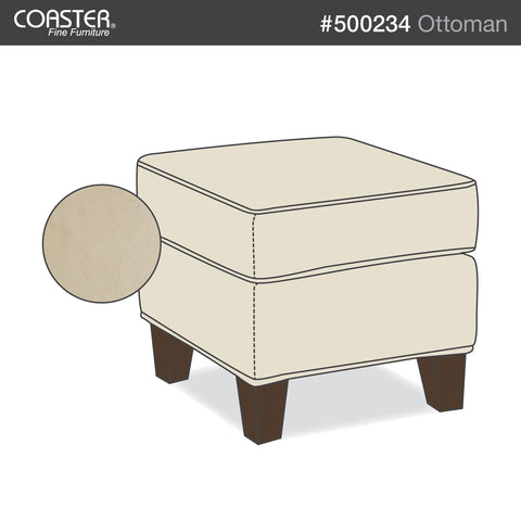 Park Place Transitional Cream Ottoman