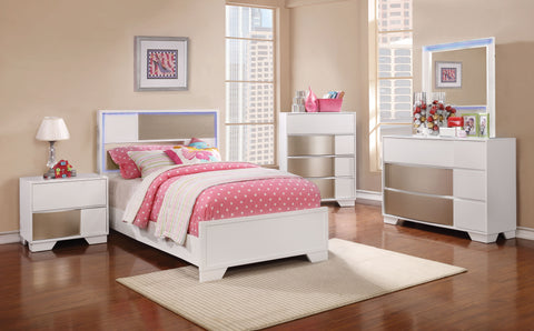 Havering Contemporary White Twin Five-Piece Set