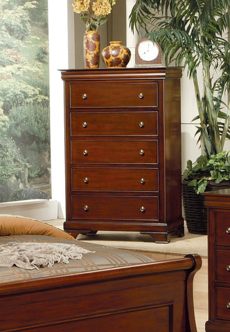 Versailles Five-Drawer Chest With Lift Top