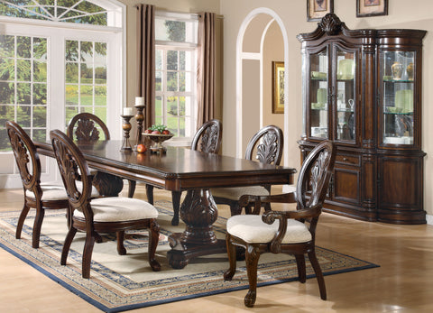 Tabitha Traditional Dark Cherry Rectangular Five-Piece Dining Table