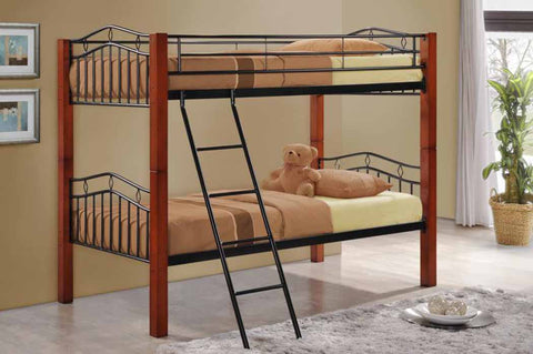Collins Transitional Cinnamon Bunk Bed